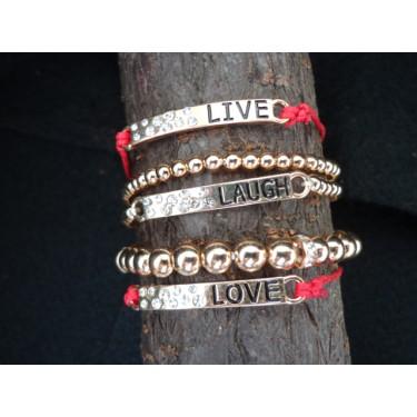 Live, Laugh, Love Bagle Bracelets