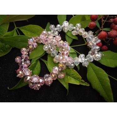 Crystal Bracelet Set (Pink)