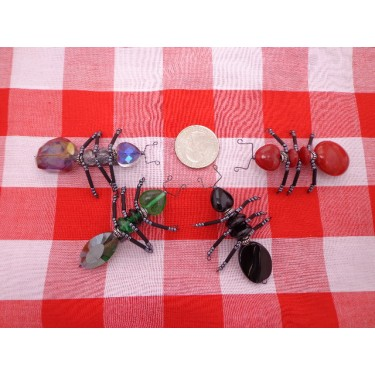 Beaded Ant Magnets