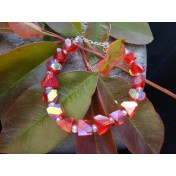 Red Iridescent Bracelet