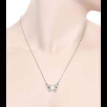 NC05 Darling Pave Bow Necklace