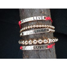 Live, Laugh, Love Bagle Bracelets