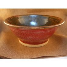 Tea Dust/Vegas Red Decorative Bowl